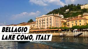 bellagio in lake como italy arrival by ferry boat youtube