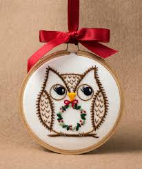 owl ornament 6315 owls auction and sew