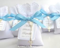 Baptism Decorations Boy Baptism Favors Lavender Sachets With Mini Rosary U0026 Pink