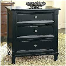 Black Wood Nightstand Black Finish Metal Stand Bedside Table Kitchen