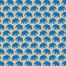 blue wrapping paper printed patterned tissue wrapping paper elephants blue luxury 5