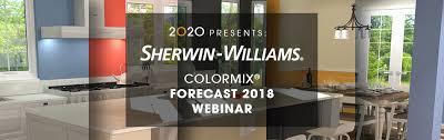 sherwin williams color 2020 presents sherwin williams colormix forecast 2018 webinar 2020