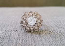 filigree engagement rings halo white sapphire diamond ballerina round antique engagement