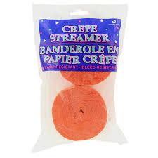 crepe paper streamers bulk bulk orange paper streamers 70 5 ft 2 ct packs at dollartree