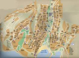 Puerto Rico On A Map by City Maps Stadskartor Och Turistkartor Travel Portal
