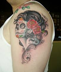 pinup skull tattoos pictures to pin on tattooskid