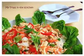 my trials in the kitchen moroccan chicken salad with rice