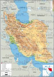 map iran geoatlas countries iran map city illustrator fully