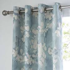 Teal Curtains Honesty Teal Blackout Eyelet Curtains Dunelm