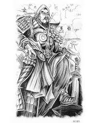 jenghiz khan portrait temporary tattoo like god men tattoo paper