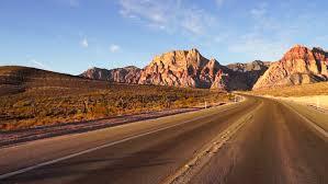 Red Landscape Rock by Red Rock Canyon Sunrise Las Vegas Nevada Landscape Stock Footage