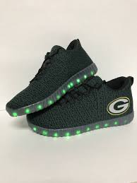 green bay packers lights green bay packers men s light up sneakers packerland plus