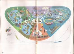Disney Monorail Map 1968 Disneyland Guide And Map Coaster101