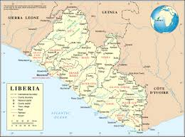 Map Of The Africa by Detailed Political And Administrative Map Of Liberia With All