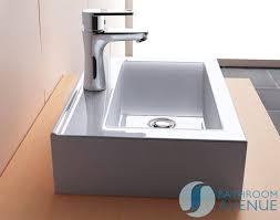 small rectangular counter top wall mounted wash basin aletta