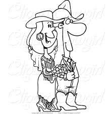 royalty free stock cowgirl designs of coloring book pages