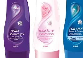 asda bath shower range packaging design on behance shower gel range certainly look the part soft luxurious graphics together with blended essence images make them a very credible alternative