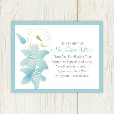 thank you card exle sympathy card thank you messages funeral