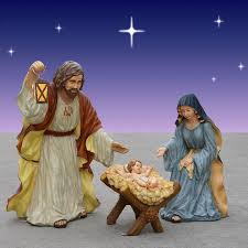Outdoor Lighted Nativity Set - outdoor lighted plastic holy family nativity set outdoor designs