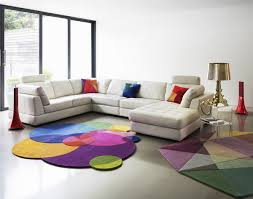 Living Room Rugs Modern Circle Themed Rug With Colorful Color For Modern Living Room