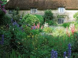 cottage garden border design ideas with garden cottage building