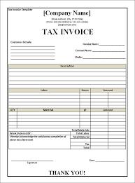 free tax invoice template australia download free invoice template