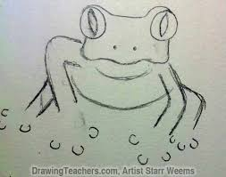 how to draw a tree frog