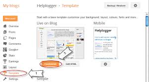 how to add css code to blogger using template designer helplogger