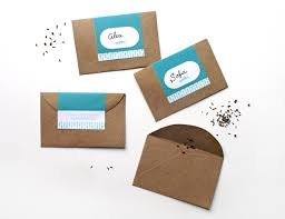 makr diy favors custom seed packets