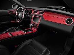How To Vinyl Wrap Interior Trim American Muscle Graphics Mustang Red Carbon Fiber Dash Kit 387405