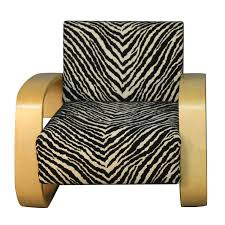 zebra swivel chair alvar aalto tank chair with zebra pattern upholstery at 1stdibs