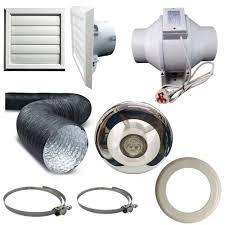 bathroom extractor inline fan kit