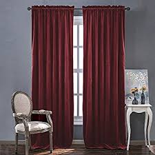 Home Classics Blackout Curtain Panel Amazon Com Cherry Home Set Of 2 Classic Blackout Velvet Curtains