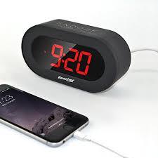 mettre une horloge sur le bureau reacher réveil digital avec grand écran numérique alarme