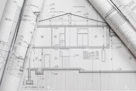 house plan blueprints house plan blueprints roled up stock photo picture and royalty