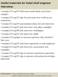 Sample Resume For Hotel by Top 8 Hotel Chief Engineer Resume Samples