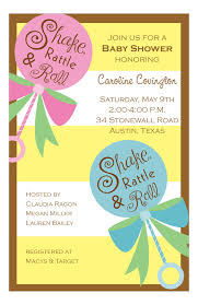 shake rattle and roll baby shower baby shower invitations