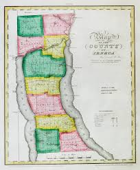 New York State Counties Map by 1859 Cayuga Seneca County Ny Map