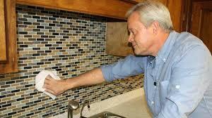 how to install mosaic tile backsplash in kitchen how to install a mosaic tile backsplash todays homeowner mosaic
