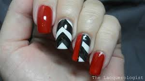 red black and white chevron nails nail art gallery