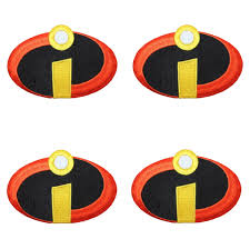 incredibles costume set of 4 incredibles costume logo patch family craft