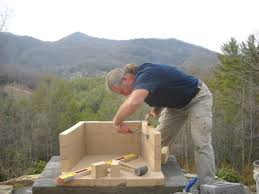 how to build a stone outdoor fireplace home design popular