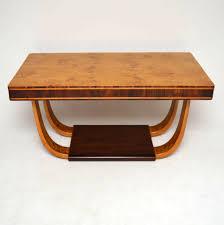 art deco burr maple u0026 rosewood dining table vintage 1920 u0027s
