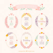 wedding ornaments of leaves vector free
