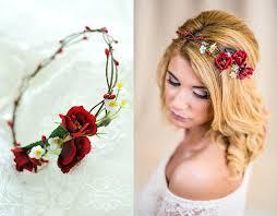 Hochsteckfrisurenen Hochzeit Mit Haarreif by Blumenkranz Hochzeit Haarband Blumen Haarschmuck Blumenkranz