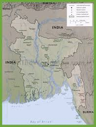 Physiographic Map Of The United States by Physiographic Map Of Bangladesh With National Parks