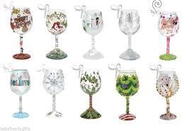 wine glass christmas ornaments christmas ornaments wine glass wine charms christmas fused glass