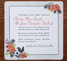 polka dot wedding invitations christine jason s polka dot and floral wedding invitations
