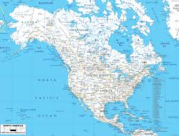 detailed map of usa and canada map of us and canada airports road map of northern usa and canada
