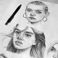 pencil sketches brooke shields and gemma ward by tomasz mro on